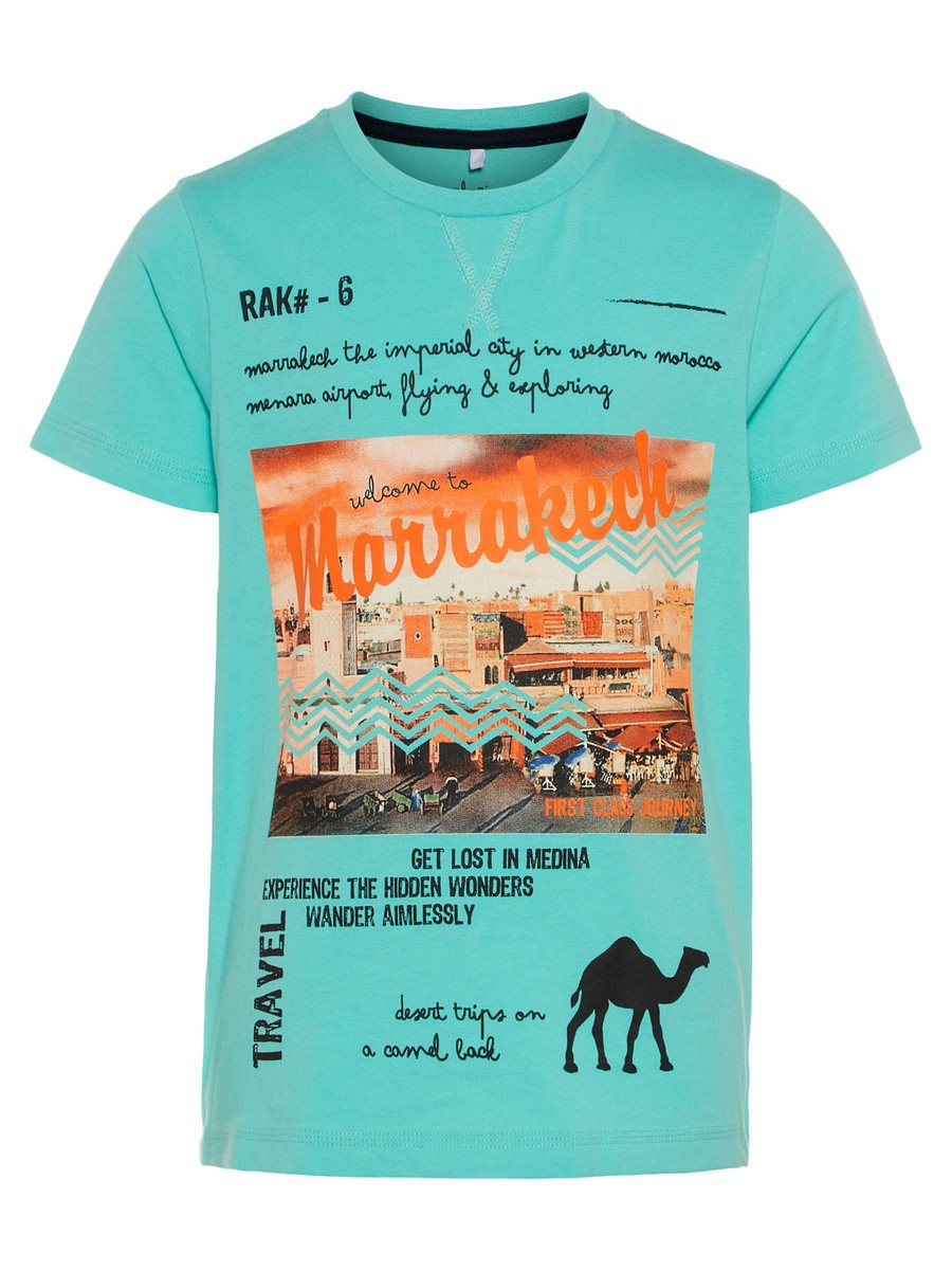 NAME IT Jungen T-Shirt Ted dunkelblau weiß gestreift Größe 122//128 bis 158//164