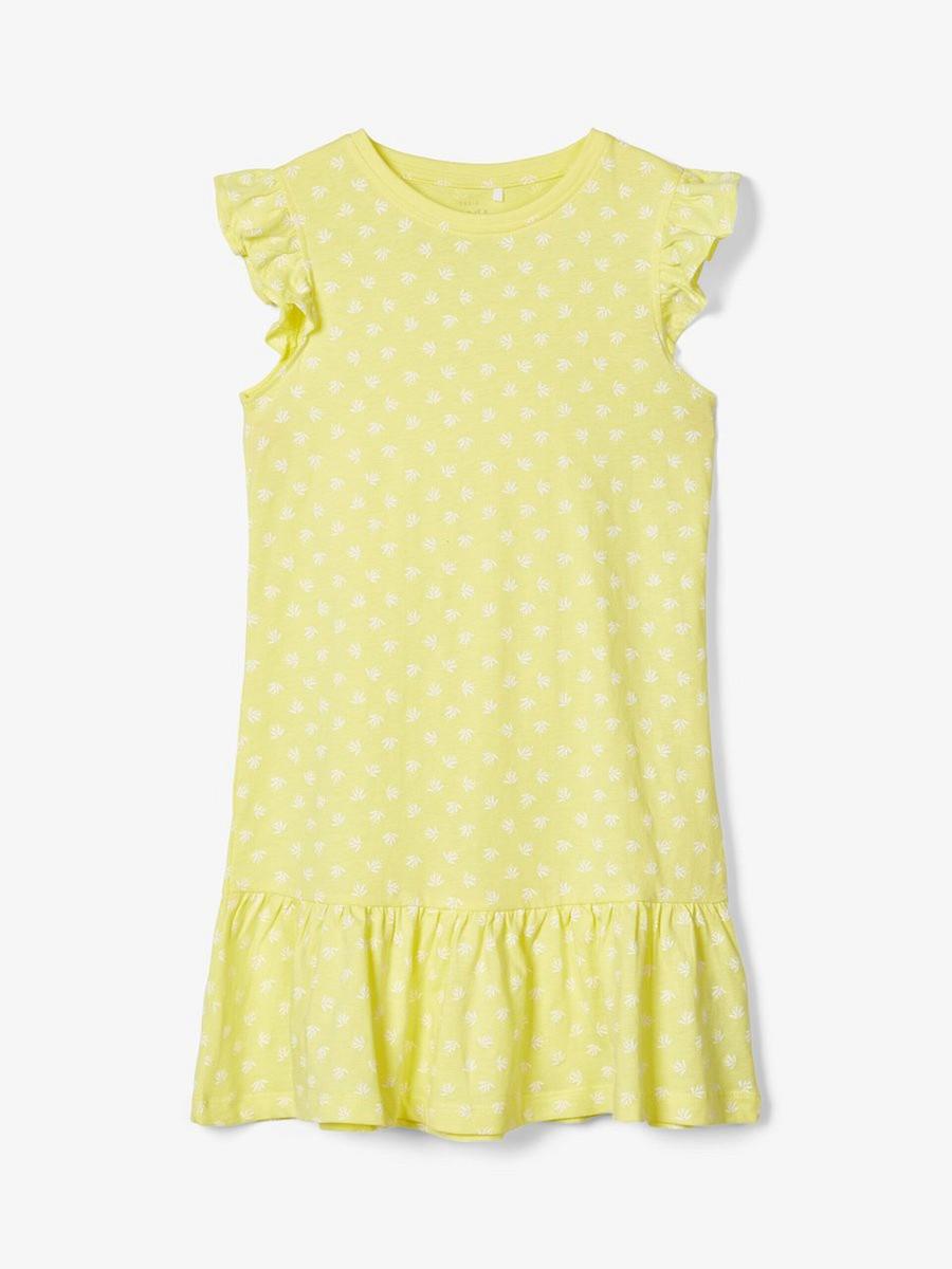 NAME IT kurzarm Jersey Kleid NKFVida dunkelblau Blumen Größe 116 bis 152