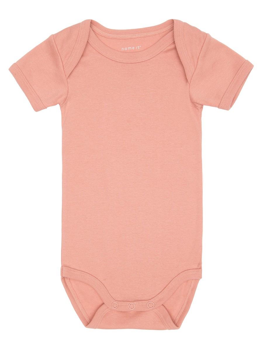 NAME IT 3er kurzarm Body Set rosa apricot Größe 50 bis 98